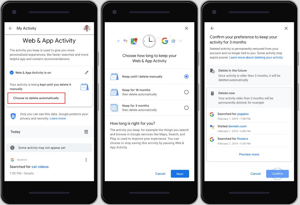 حذف تاریخچه فعالیت کاربران در گوگل